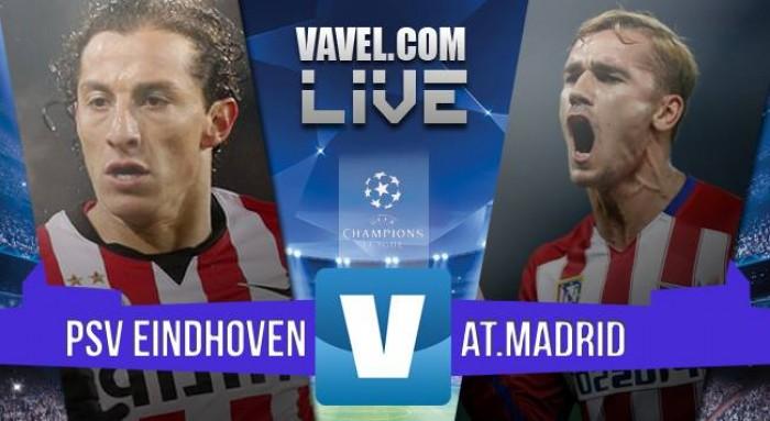 PSV Eindhoven Vs Atletico Madrid in Champions League 2015/2016 (0-0): pareggio senza reti al Philips Stadion