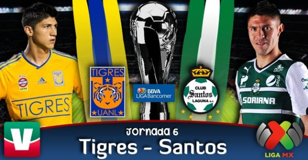 Resultado Tigres vs Santos en Liga MX (1-1)