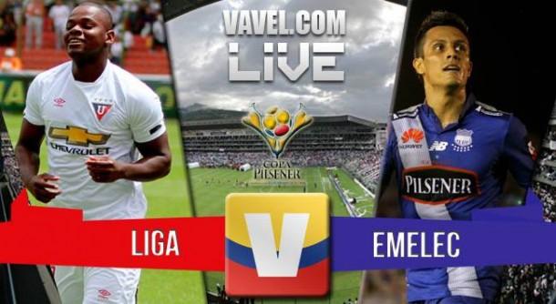 Resultado Liga de Quito - Emelec en vuelta Final Ecuador 2015 (1-3): Emelec tricampeón