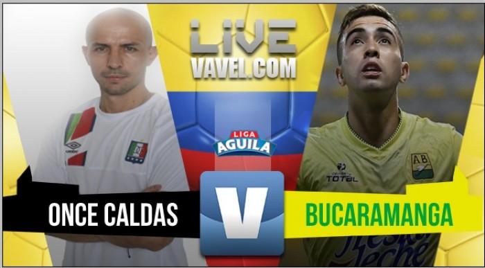 Con dos goles de Franco Arizala, Atlético Bucaramanga derrotó 2-0 de visitante a Once Caldas