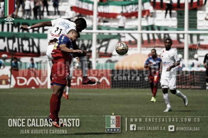 Pálido empate sin goles entre Once Caldas y Pasto