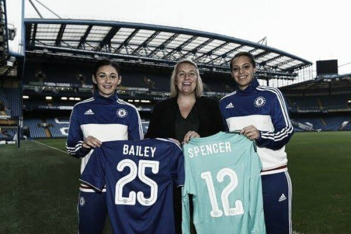 Chelsea Ladies complete double signing of Jade Bailey and Becky Spencer