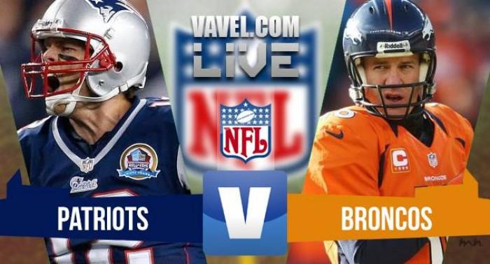 Denver Broncos x New England Patriots pela NFL 2015/2016