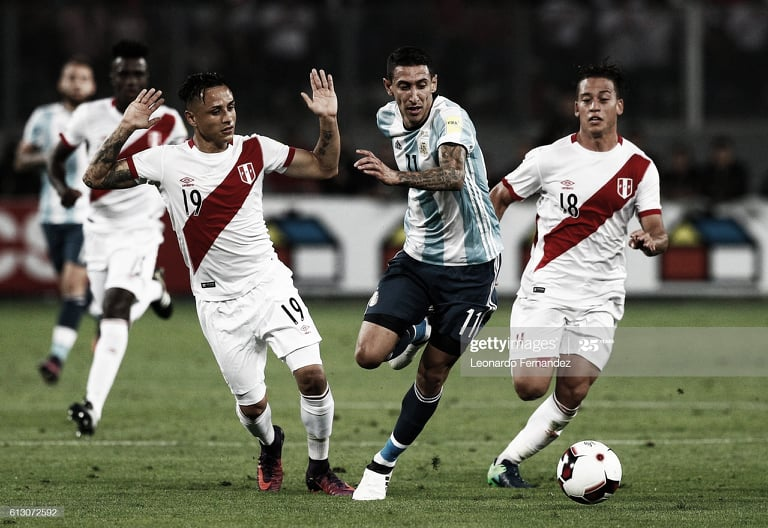 ESPERA EN EL BANCO. Di María, puede ocupar un lugar en el banco de suplentes, el extremo en el PSG en el último duelo en Lima. Foto: Getty images