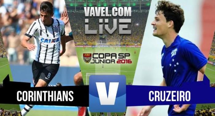 Resultado Corinthians x Cruzeiro pela semifinal da Copa SP de Futebol Jr  2016 (2- 8f0f1357eed31