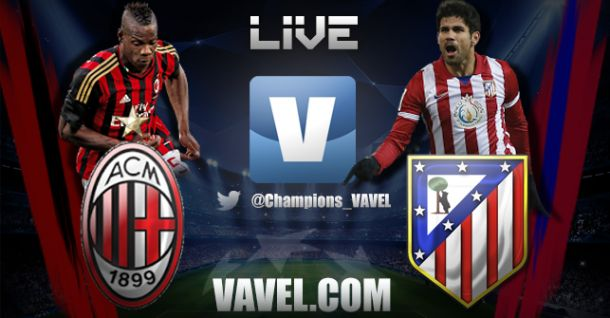 Diretta Milan - Atletico Madrid in Champions League