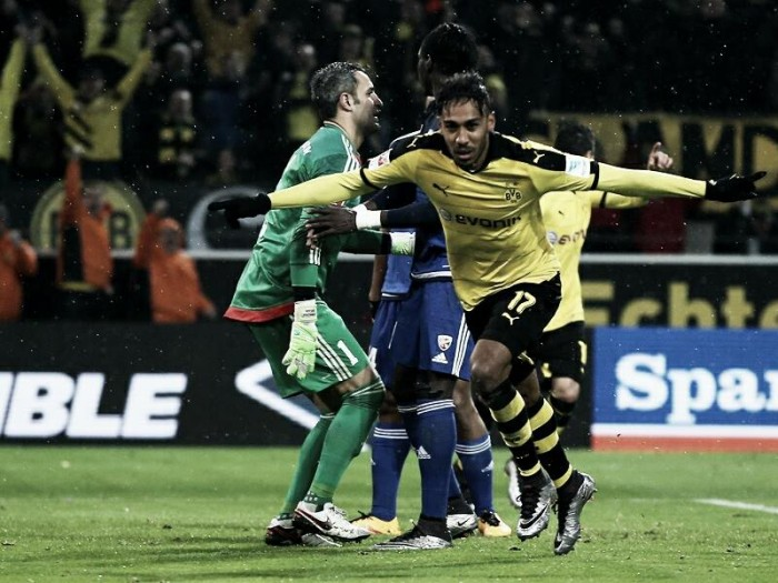 Borussia Dortmund 2-0 FC Ingolstadt 04: BVB edge past stubborn Schanzer thanks to Aubameyang brace