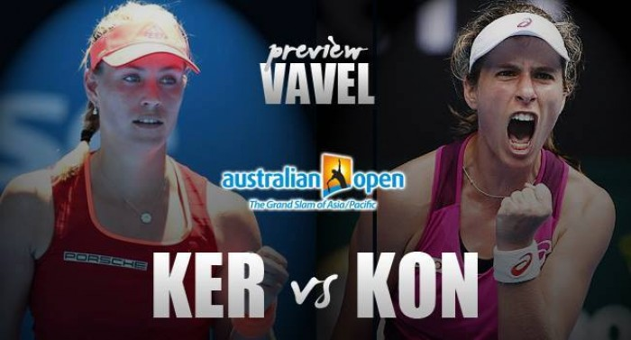 Australian Open Semifinal Preview: Angelique Kerber - Johanna Konta