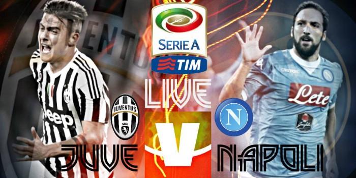 Juventus Vs Napoli in diretta, live Serie A 2015/2016 (20.45): le formazioni ufficiali