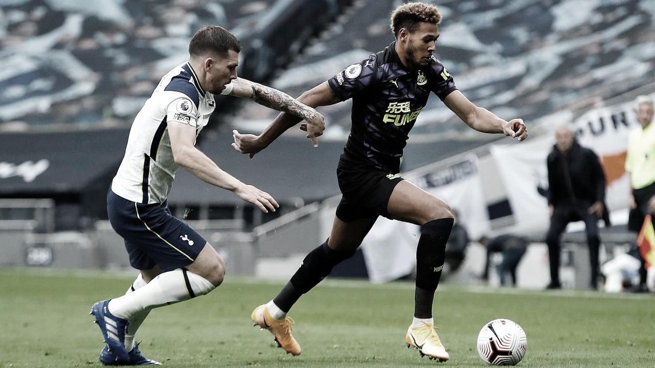 Após uso do VAR, Newcastle busca empate nos acréscimos diante do Tottenham