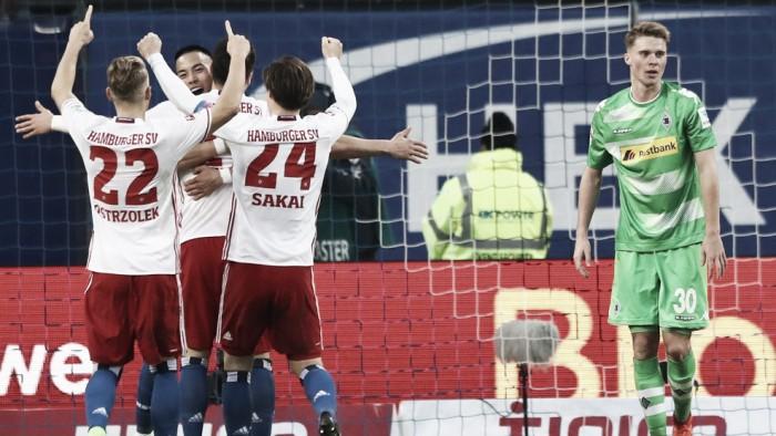 Hamburgo consegue a virada no final da partida e vence de virada Borussia M'gladbach