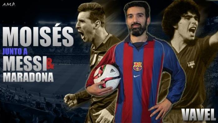Moisés, entre Messi y Maradona