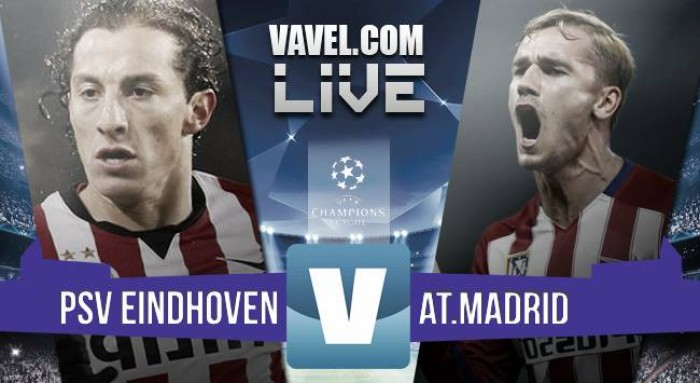 10 man PSV hang on for a goalless draw with Atletico Madrid in Eindhoven