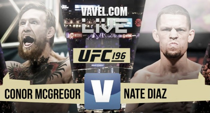 UFC 196: Nate Diaz defeats Conor McGregor via submission
