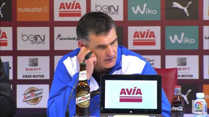 """José Luis Mendilibar: """"No tengo nada que reprochar al equipo"""""""