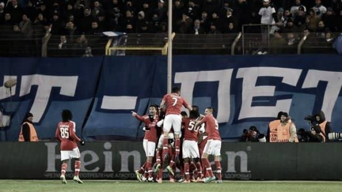 Zenit St Petersburg (1) 1-2 (3) Benfica: Águias again leave it late to reach the last eight