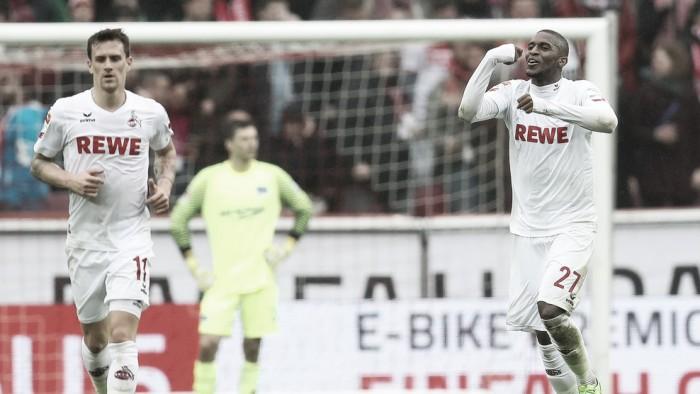 Modeste anota três e dá vitória ao Colônia sobre Hertha Berlin na Bundesliga