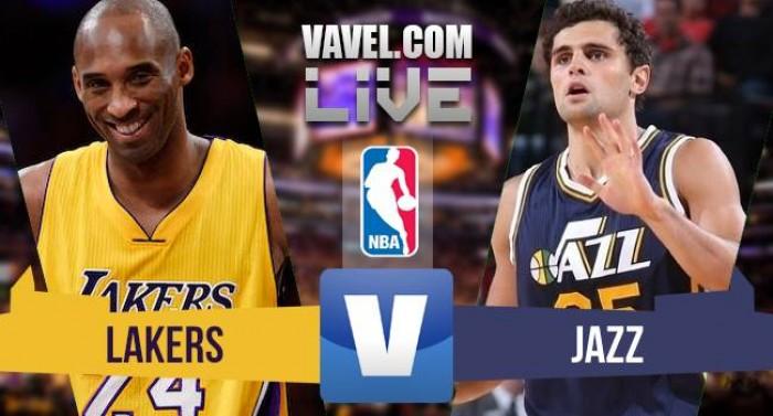 Resultado Los Angeles Lakers x Utah Jazz na despedida de Kobe Bryant na NBA (101-96)