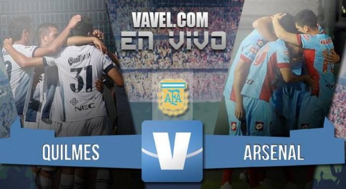 Resultado Quilmes - Arsenal por el Torneo de Transición 2016 (1-4)