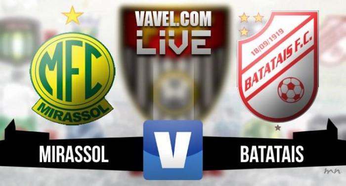 Resultado Mirassol x Batatais no Campeonato Paulista Série A2 (2-0)