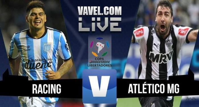 Resultado Racing - Atlético Mineiro en ida de octavos de Libertadores 2016 (0-0)