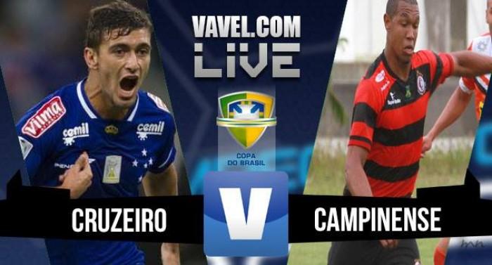 Resultado Cruzeiro x Campinense na Copa do Brasil 2016 (3-2)