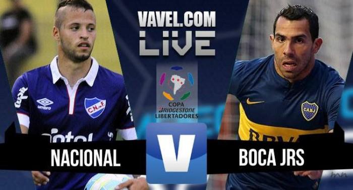 Resultado Nacional-URU x Boca Juniors na Libertadores 2016 (1-1)