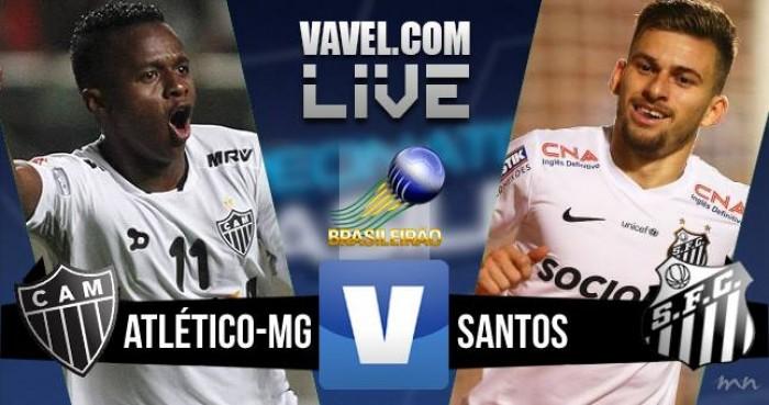 Resultado Atlético-MG x Santos noBrasileirão (1-0)