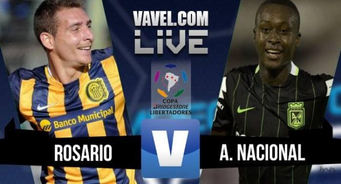 Jogo Rosário Central x Atlético Nacional pela Libertadores 2016 (1-0)