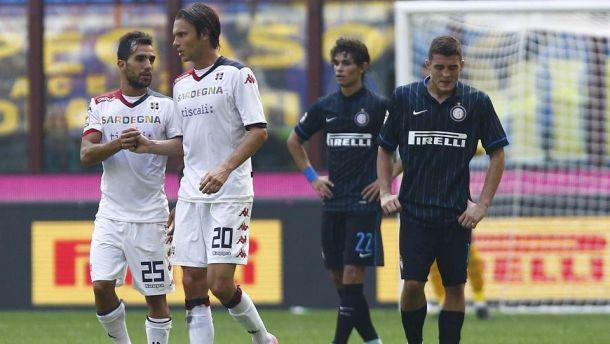 Crollo Inter, spettacolo Cagliari a San Siro