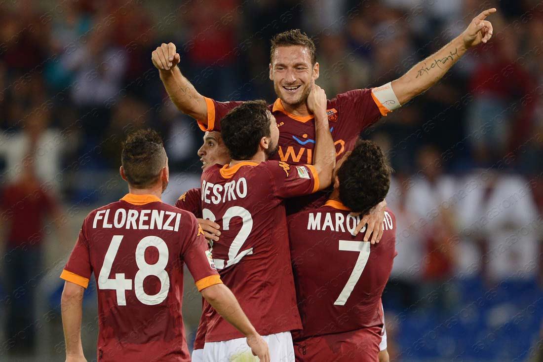 Maldición en el Olímpico, Totti no es suficiente