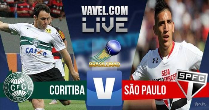 Resultado Coritiba x São Paulo no Brasileirão 2016 hoje (1-1)