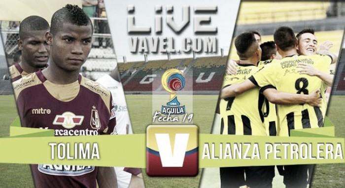 Resultado final: Deportes Tolima vs Alianza Petrolera en la Liga Águila 2016-I (2-1)
