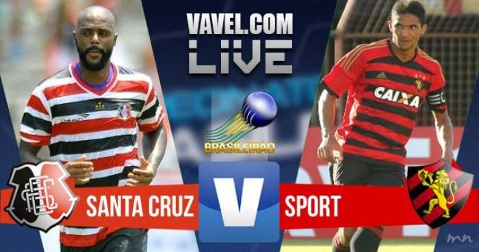 Resultado Santa Cruz x Sport na Série A do Campeonato Brasileiro (0-1)