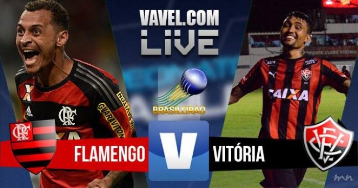 Resultado Flamengo x Vitória no Campeonato Brasileiro 2016 (1-0)