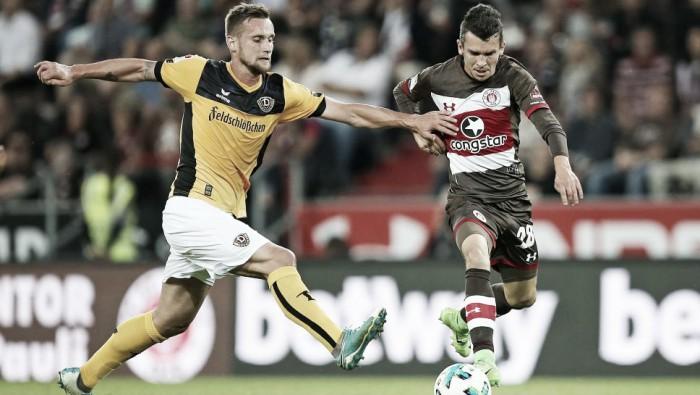 St. Pauli cede duplo empate ao Dynamo Dresden e ambos seguem invictos na 2. Bundesliga