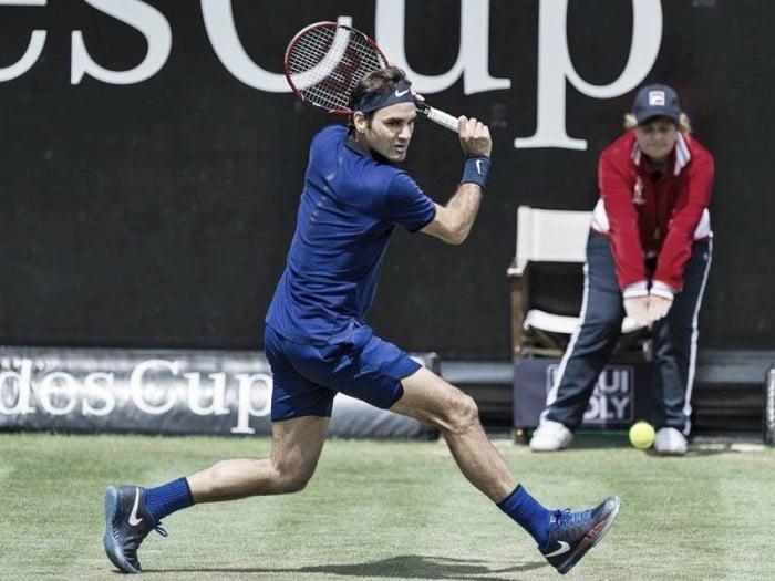 Mercedes Cup 2016: Federer comes through early battle on return in Stuttgart