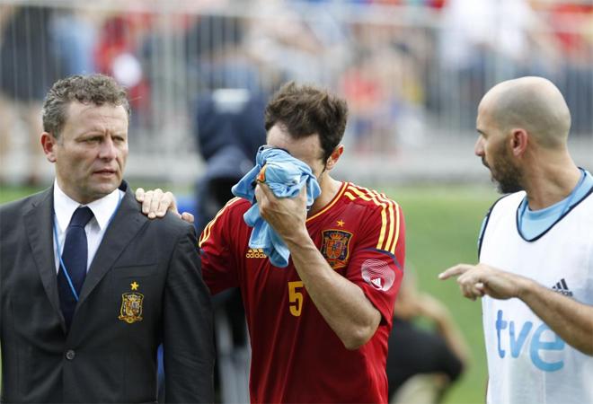 Juanfran Torres sufre un esguince de rodilla