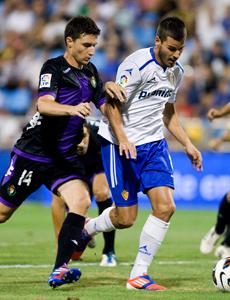 El R.Zaragoza cae ante un buen R.Valladolid por la mínima