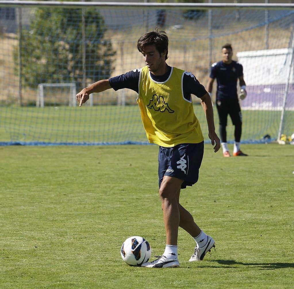 Duro entrenamiento del Real Valladolid en los Anexos