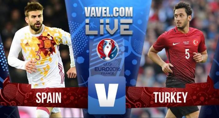 Risultato live Spagna-Turchia in Euro 2016. Morata e Nolito, il bis è servito!(3-0)