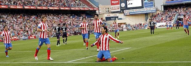 Dos zarpazos del Atlético de Madrid tumban al Real Valladolid