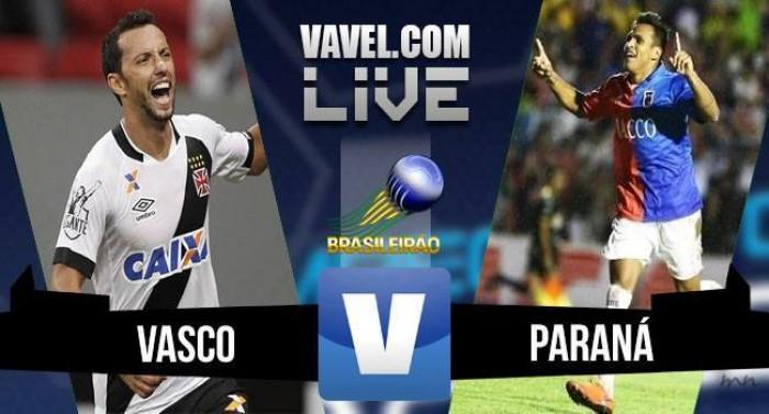 Vasco perde em casa para o Paraná pelo Brasileirão Série B 2016 (1-2)