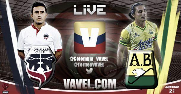 Resultado Fortaleza - Bucaramanga en Torneo Águila 2015 (2-1)