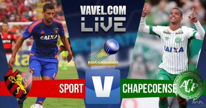 Resultado Sport x Chapecoense na Série A do Campeonato Brasileiro (5-1)