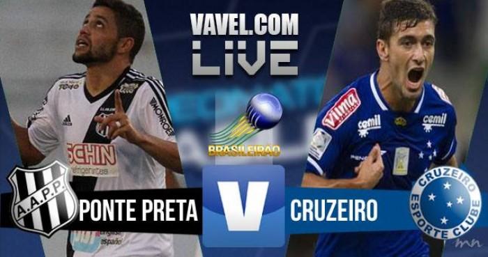 Jogo Ponte Preta x Cruzeiro no Brasileirão 2016 Série A