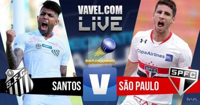 Resultado Santos x São Paulo no Campeonato Brasileiro hoje (0-0)