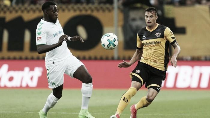 Greuther Fürth empata com Dynamo Dresden no fim, mas segue no rebaixamento