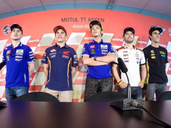 MotoGP, Assen: la conferenza stampa dei piloti