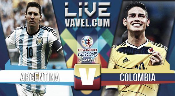 Resultado Argentina - Colombia en cuartos de final de Copa América 2015 (0-0)